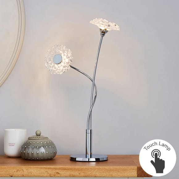 Alanli 2 Light Integrated LED Flower Table Lamp Silver