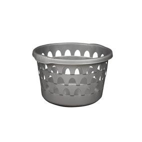Strata Silver Round Laundry Basket