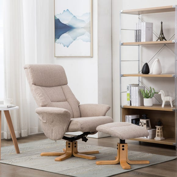 Whitham Swivel Recliner Chair - Natural