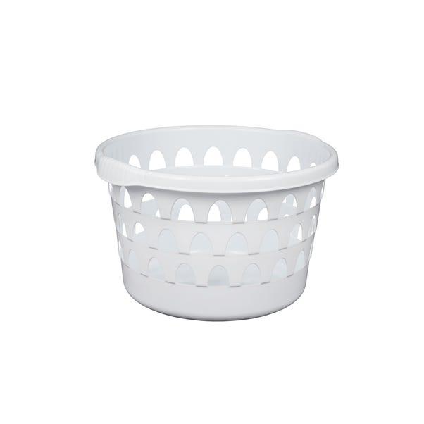 Strata White Round Laundry Basket White