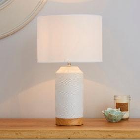Bibi Ceramic White Table Lamp