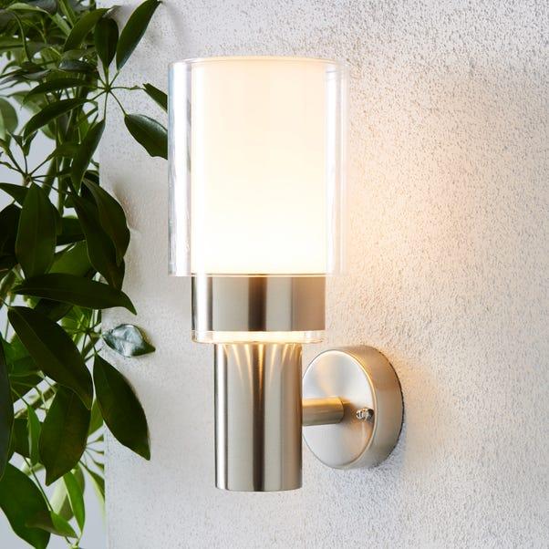 Adoni Steel Outdoor Wall Light Silver