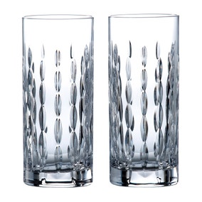 Set of 2 Royal Doulton Neptune Hiball Glasses