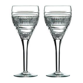 Set of 2 Royal Doulton Radial Wine Glasses
