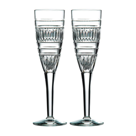 Royal Doulton Radial Flute Glasses Clear