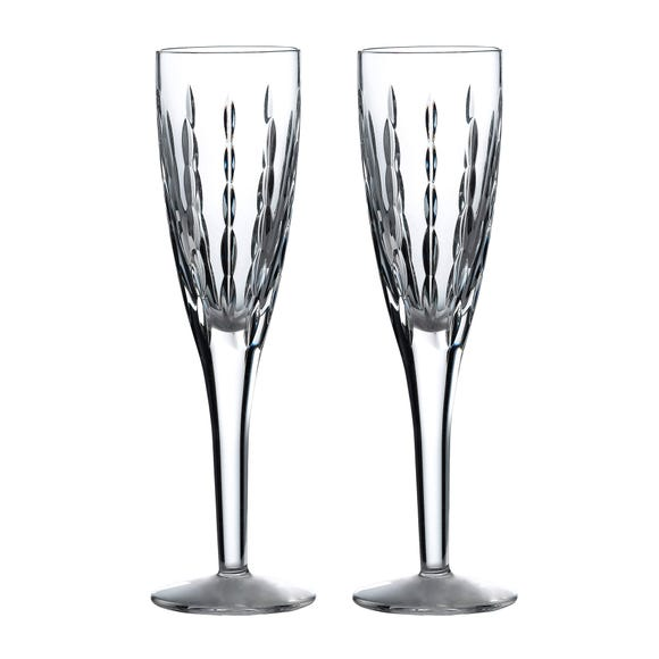 Royal Doulton Neptune Flute Glasses Clear