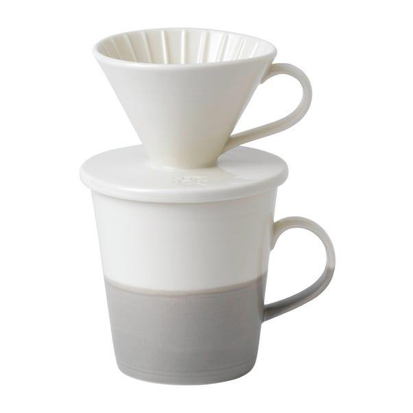 Royal Doulton Coffee Studio Single Pour Over Set Grey