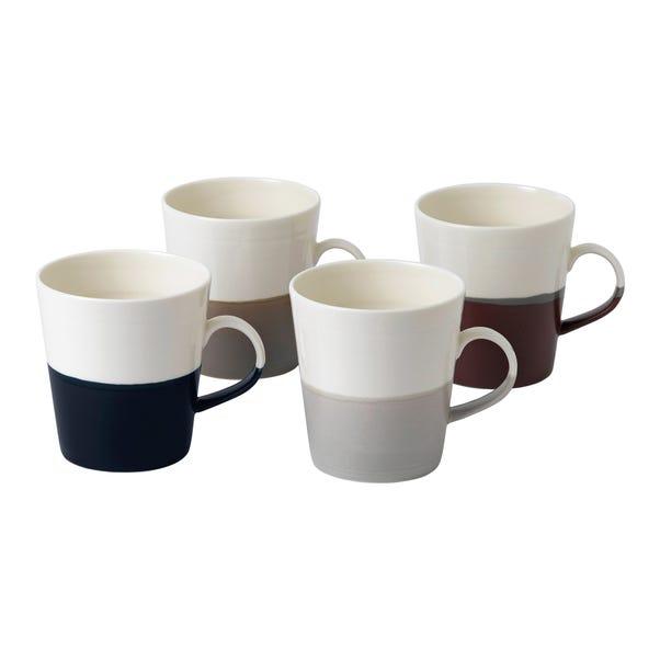 Royal Doulton Coffee Studio Set of 4 Grande Mugs Multi coloured