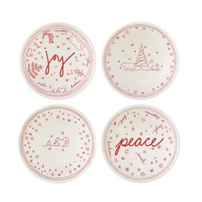 Ellen DeGeneres by Royal Doulton Holiday Collection Set of 4 Bowls