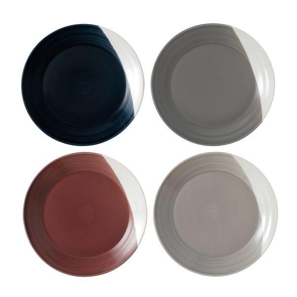 Royal Doulton Bowls of Plenty Set of 4 Plates Multi coloured