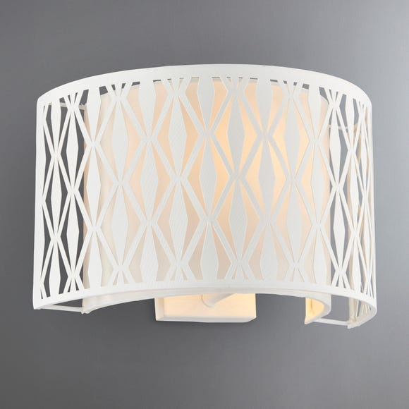 Jodie Shaded Ivory Wall Light Cream