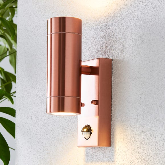 Billy PIR Sensor Copper Outdoor Wall Light Copper