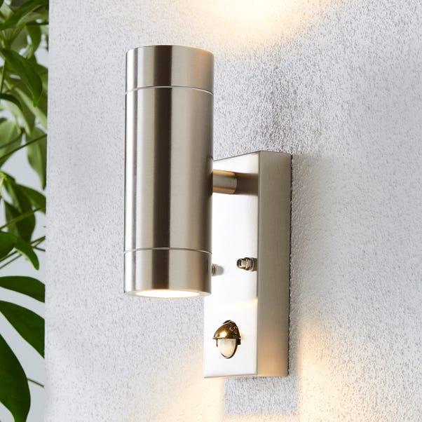 Billy PIR Sensor Chrome Outdoor Wall Light Chrome