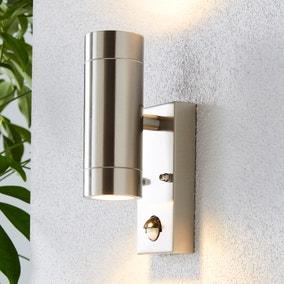 Billy PIR Sensor Chrome Outdoor Wall Light