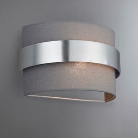 Joey Shaded Grey Wall Light