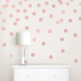 Wallpops Self Adhesive Rose Gold Effect Confetti Dots