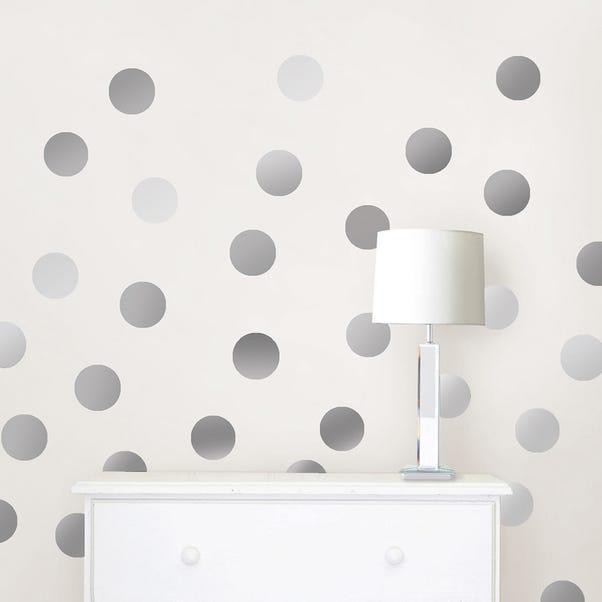 Wallpops Self Adhesive Silver Effect Confetti Dots Silver