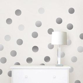 Wallpops Self Adhesive Silver Effect Confetti Dots