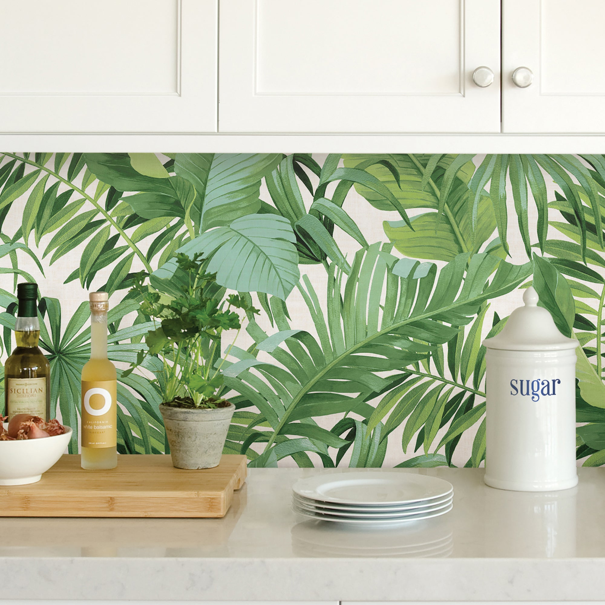 Nuwallpaper Maui Green Self Adhesive Wallpaper Green