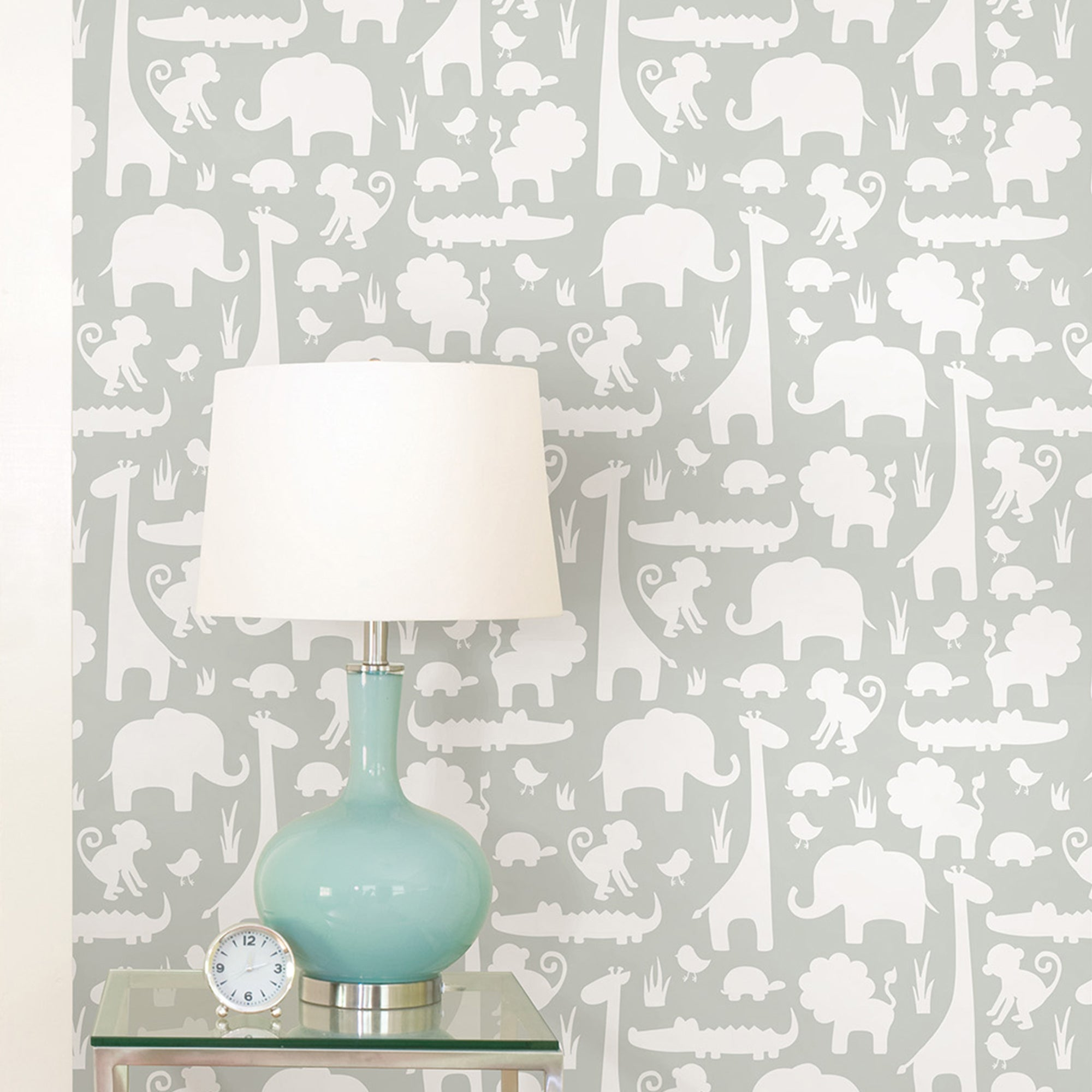 Click to view product details and reviews for Nuwallpaper Its A Jungle In Here Grey Self Adhesive Wallpaper Grey And White.