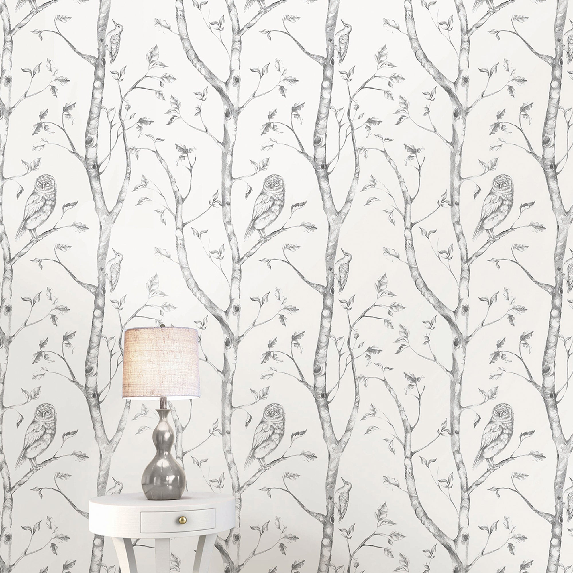 Nuwallpaper Woods Grey Self Adhesive Wallpaper Grey