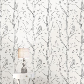 NuWallpaper Woods Grey Self Adhesive Wallpaper