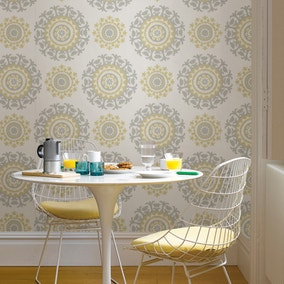 NuWallpaper Suzani Yellow Self Adhesive Wallpaper