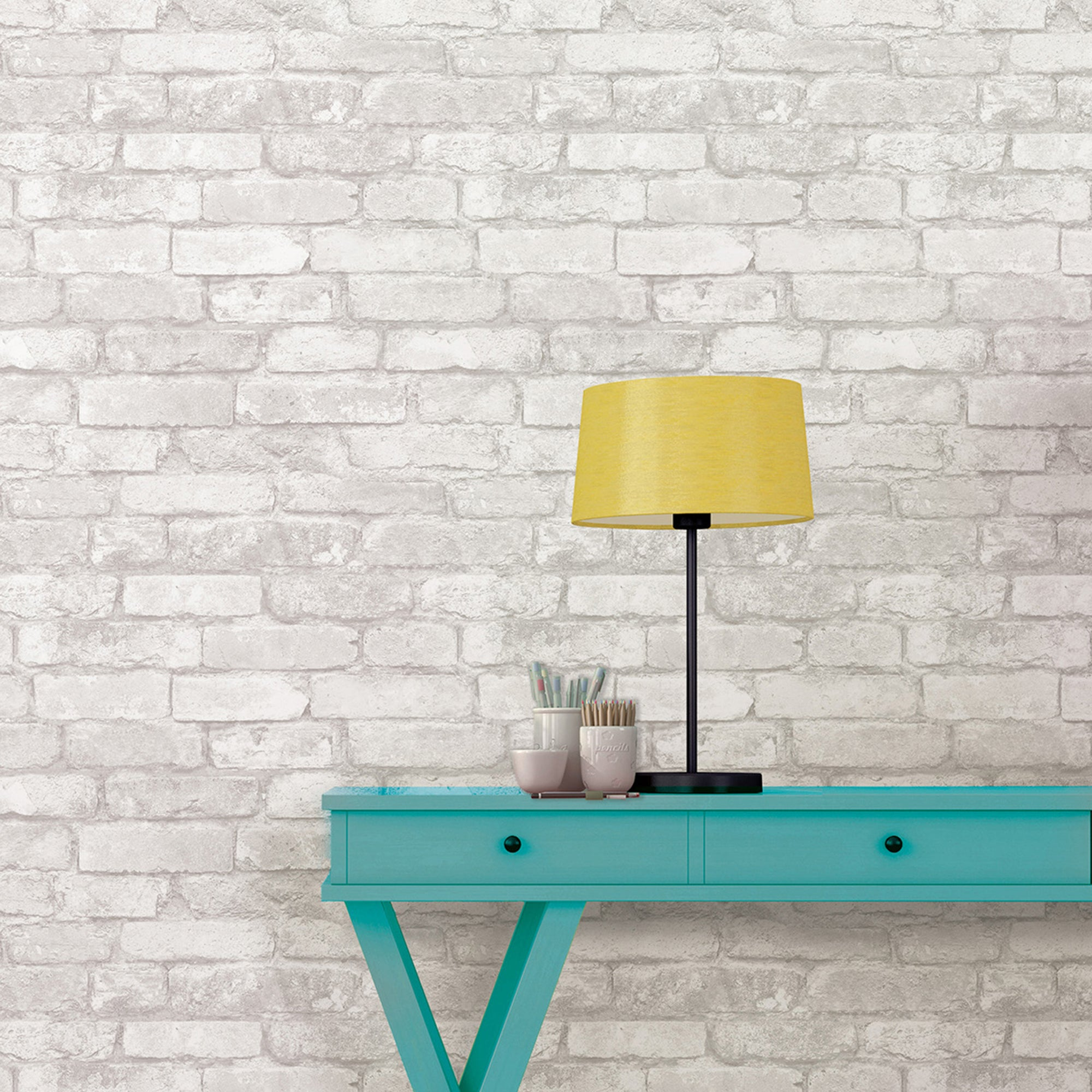 Click to view product details and reviews for Nuwallpaper Brick Grey Self Adhesive Wallpaper Grey.