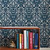 NuWallpaper Bohemian Damask Indigo Self Adhesive Wallpaper Blue