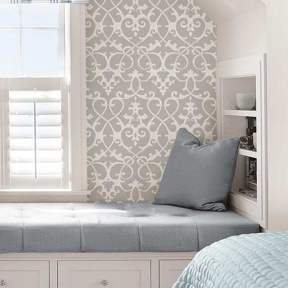 NuWallpaper Ironwork Grey Self Adhesive Wallpaper Grey