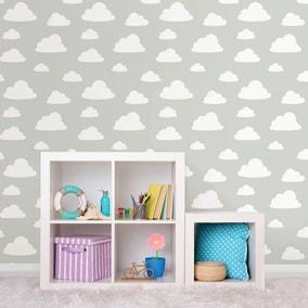 NuWallpaper Clouds Grey Self Adhesive Wallpaper