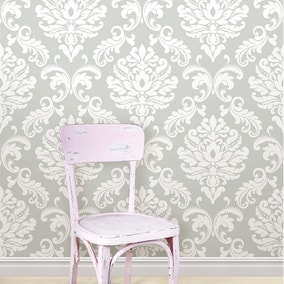NuWallpaper Ariel Grey Self Adhesive Wallpaper