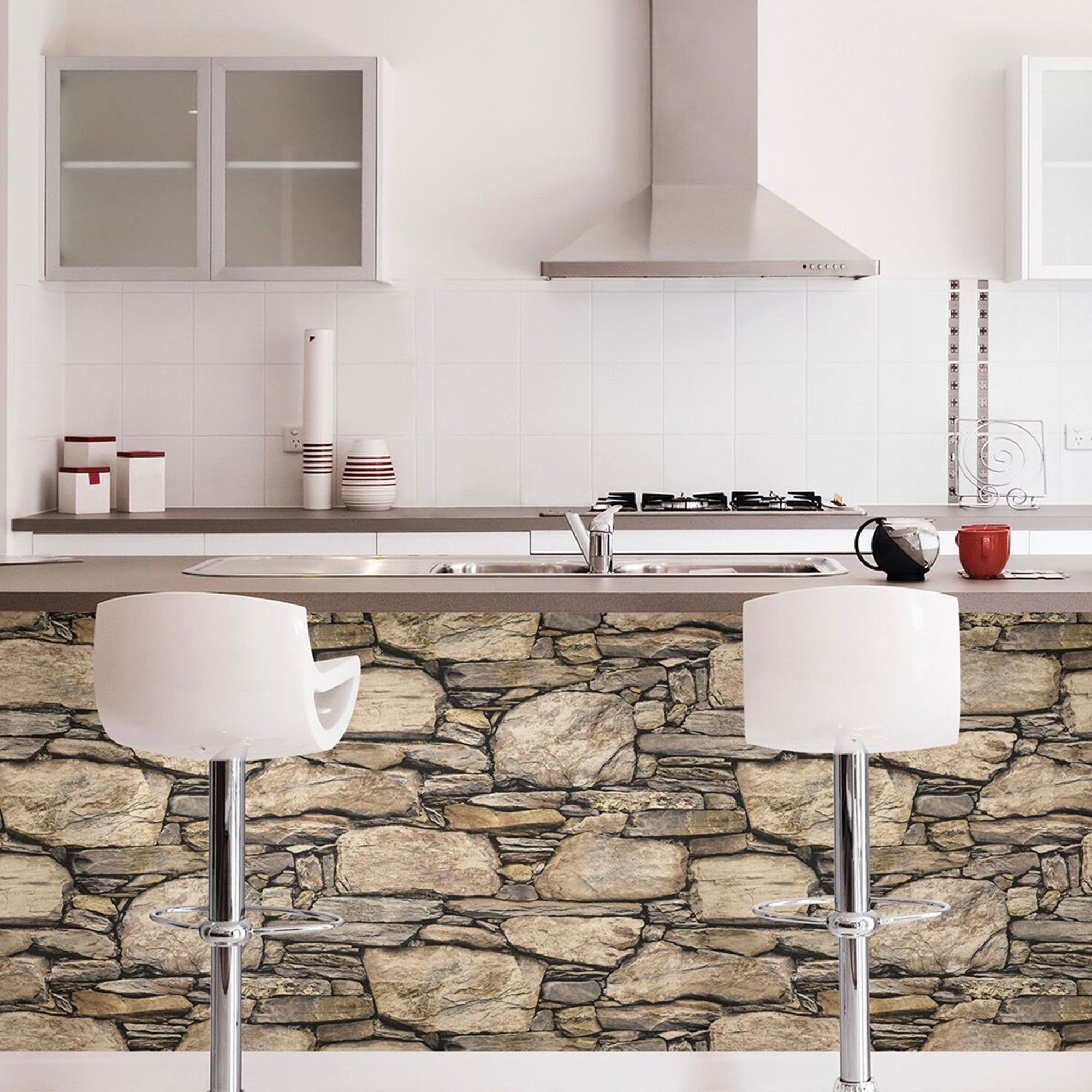 Click to view product details and reviews for Nuwallpaper Hadrian Stone Wall Self Adhesive Wallpaper Natural.
