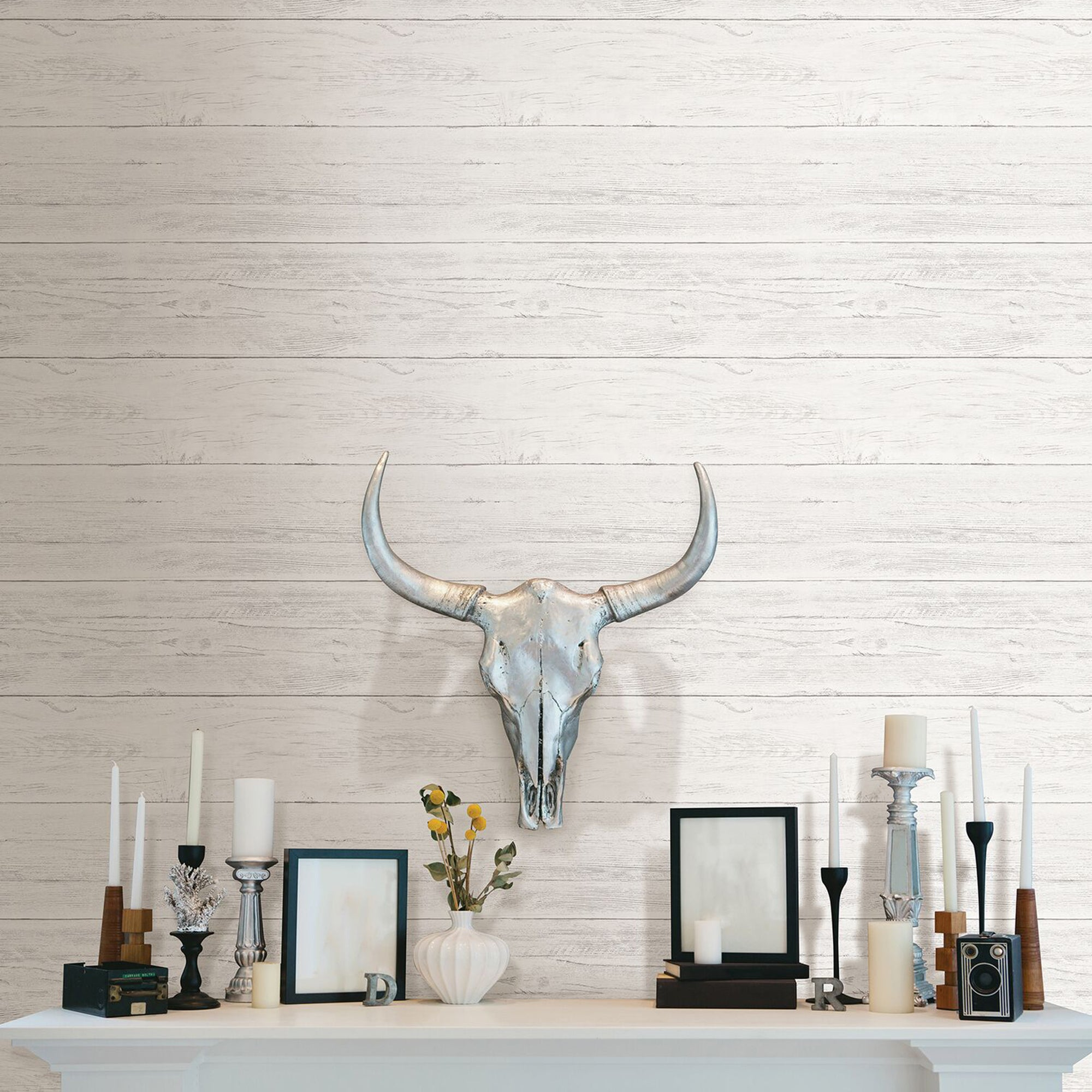 Click to view product details and reviews for Nuwallpaper Shiplap Self Adhesive Wallpaper White.