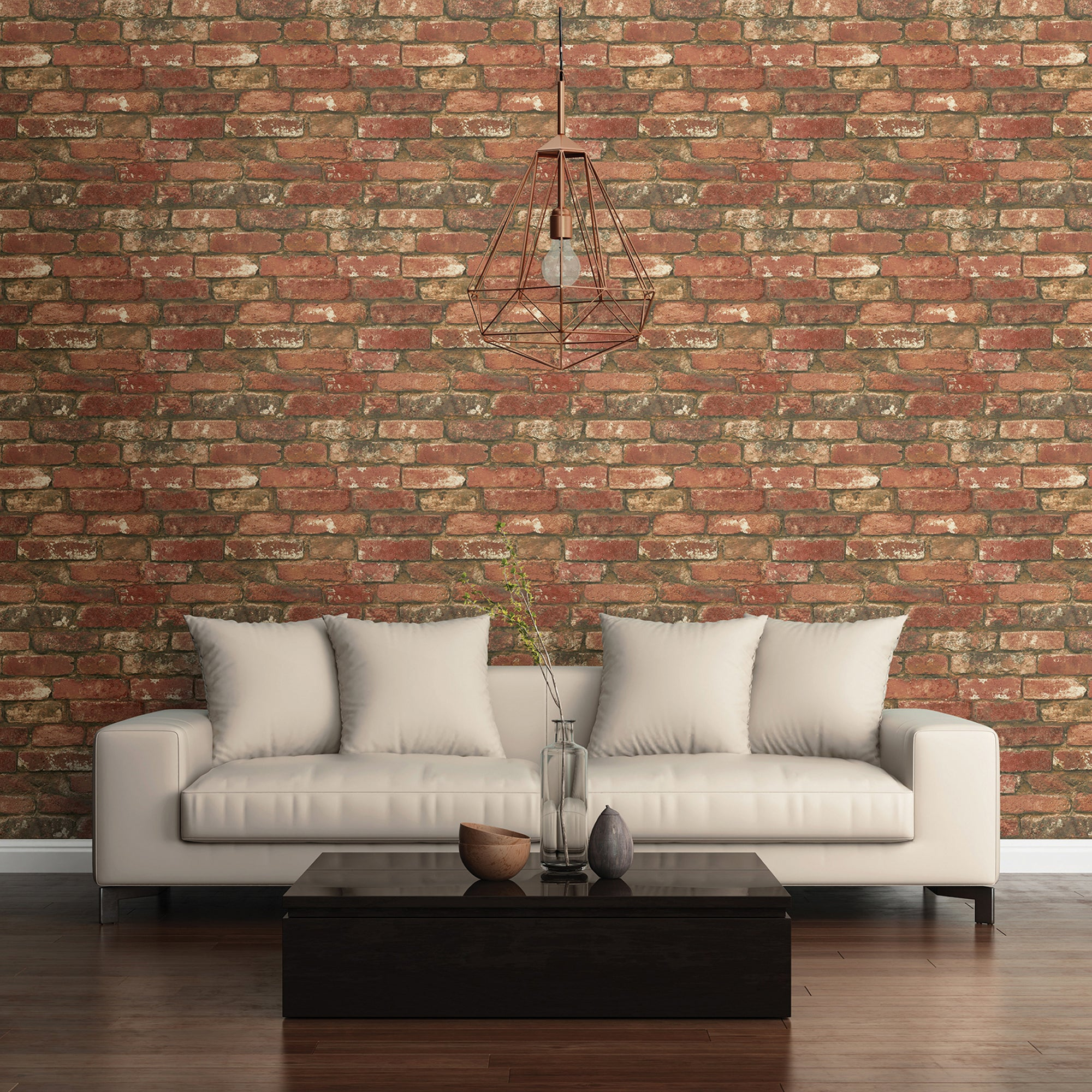 Click to view product details and reviews for Nuwallpaper West End Brick Self Adhesive Wallpaper Red.