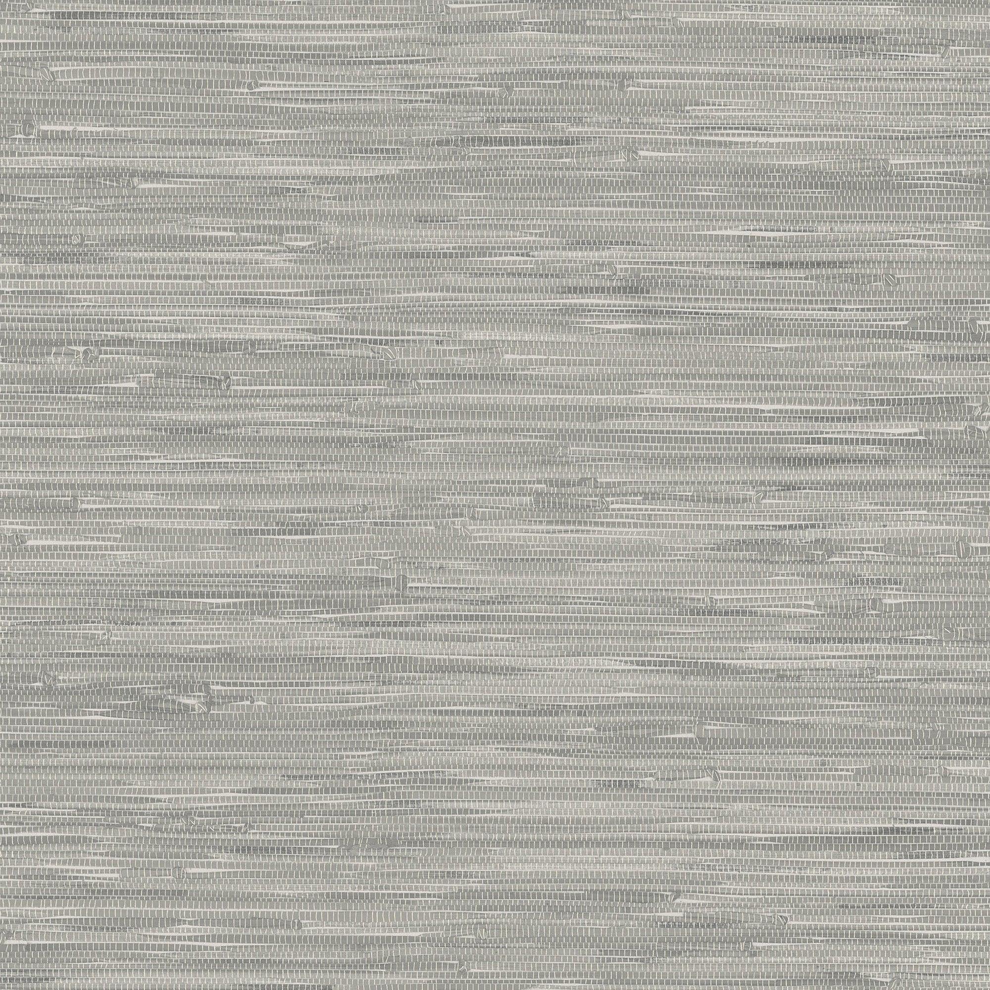 Nuwallpaper Tibetan Grasscloth Grey Self Adhesive Wallpaper Grey