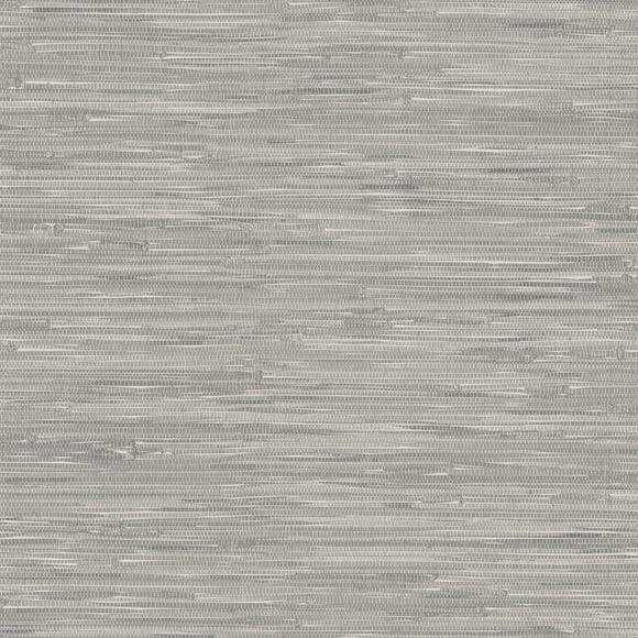 NuWallpaper Tibetan Grasscloth Grey Self Adhesive Wallpaper Grey
