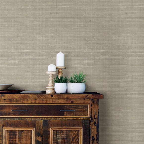 NuWallpaper Wheat Grasscloth Self Adhesive Wallpaper Natural
