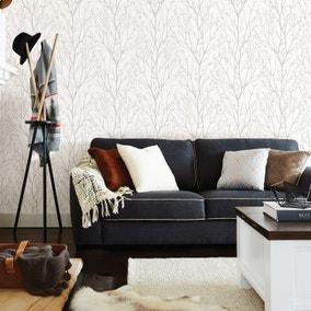 NuWallpaper Treetops Grey Self Adhesive Wallpaper
