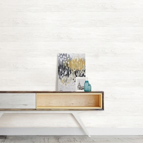NuWallpaper Reclaimed Shiplap White Self Adhesive Wallpaper