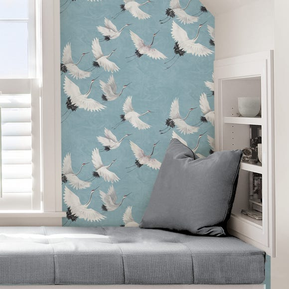 NuWallpaper Halcyon Blue Self Adhesive Wallpaper Blue