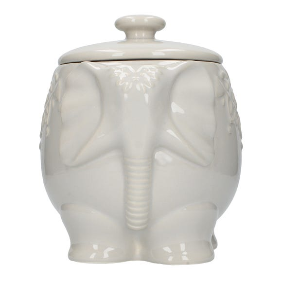 Elephant Storage Jar Grey