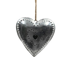 Tin Hanging Heart