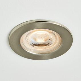 Basics 1 Light Integrated LED Satin Nickel Recess Light