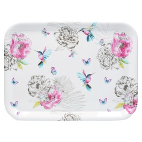 Heavenly Hummingbird Melamine Large Tray