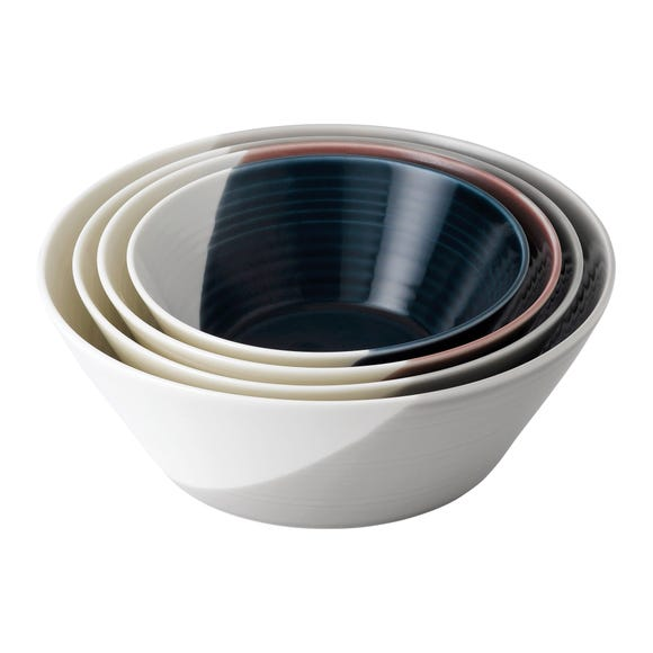Set of 4 Royal Doulton Bowls of Plenty Nesting Bowls Multi coloured