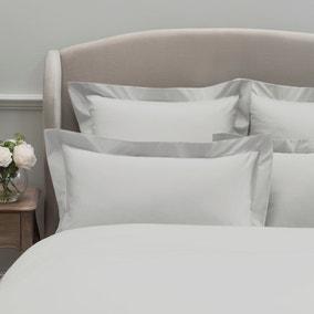 Dorma 300 Thread Count 100% Cotton Sateen Plain White Oxford Pillowcase