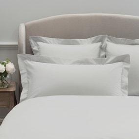 Dorma 300 Thread Count 100% Cotton Sateen Plain White Kingsize Oxford Pillowcase