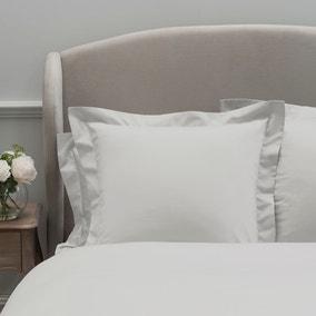 Dorma 300 Thread Count 100% Cotton Sateen Plain White Continental Square Pillowcase