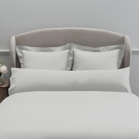 Dorma 300 Thread Count 100% Cotton Sateen Plain White Bolster Pillowcase